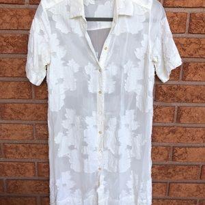 Aritzia Wilfred Sheer Shirt Dress size XXS